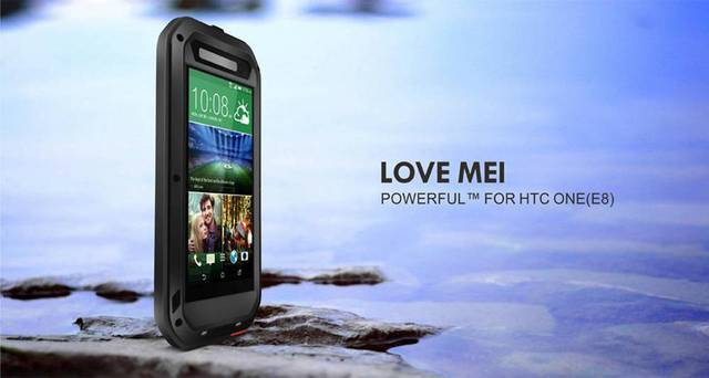 2016 New E8 Original Love mei Waterproof Case cover For HTC One E8 case Dropproof Aluminum cases For HTC E8 Powerful shockproof