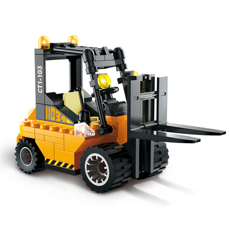 Enlighten 1103 City Series Forklift Truck Building Bricks City Construction Blocks Toy for Children Compatible Lepin 2017 enlighten city series garbage truck car building block sets bricks toys gift for children compatible with lepin