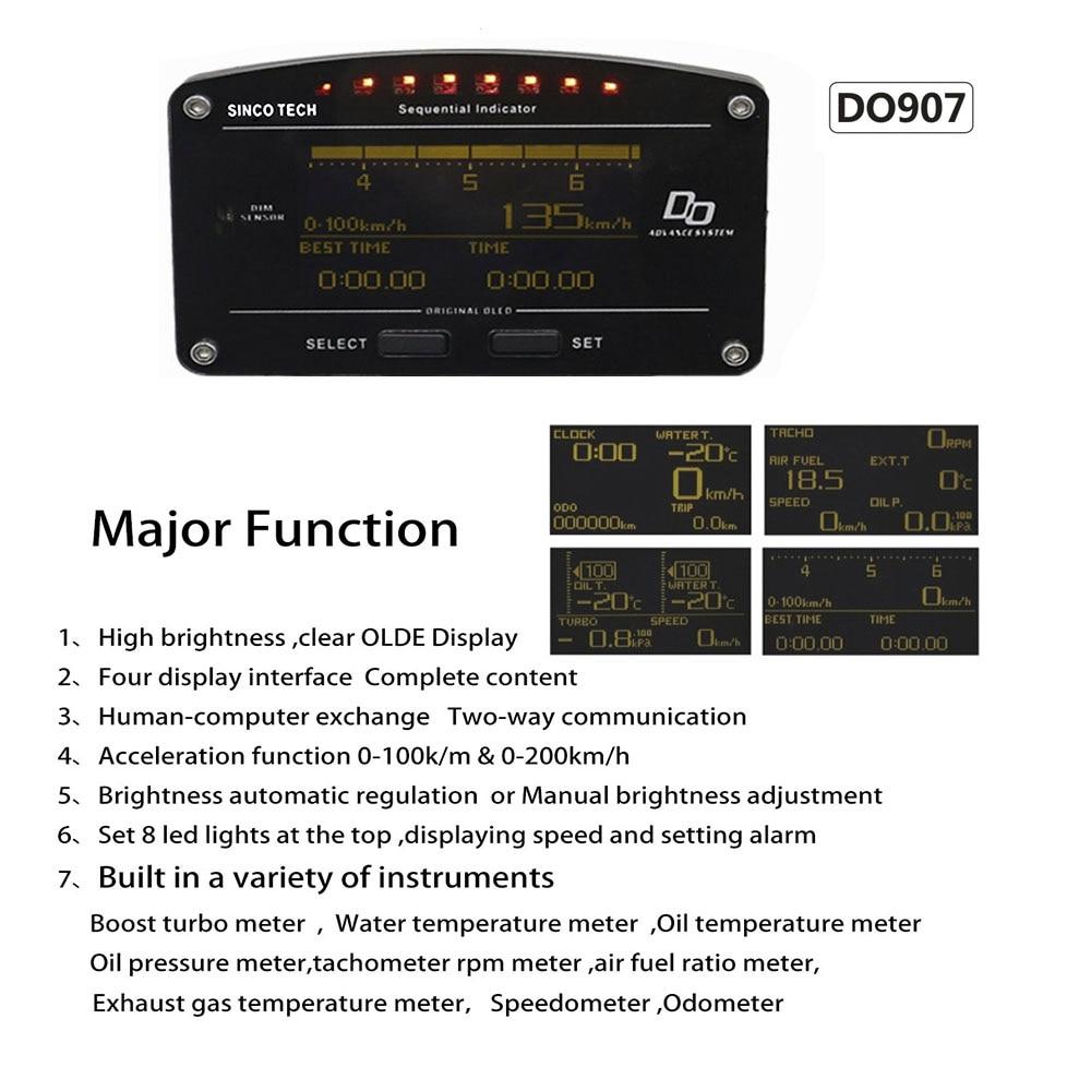 Dynoracing 10 az 1-ben Új stílusú, automatikus sportmérő - Autóalkatrész - Fénykép 6