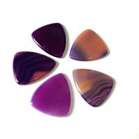 Wholesale 4pcs Mixed Agat e Stone Guitar Pick,Round Tip Natural Stone Guitar Picks Bead Pendant Guitar Pick,25x28x2.8mm