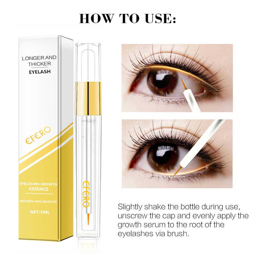 a2aba38f14b ... EFERO Eyelash Growth Serum Curling Eyelash Enhancer Mascara Essence  Natural Longer Thicker Lashes Eyelashes for Makeup