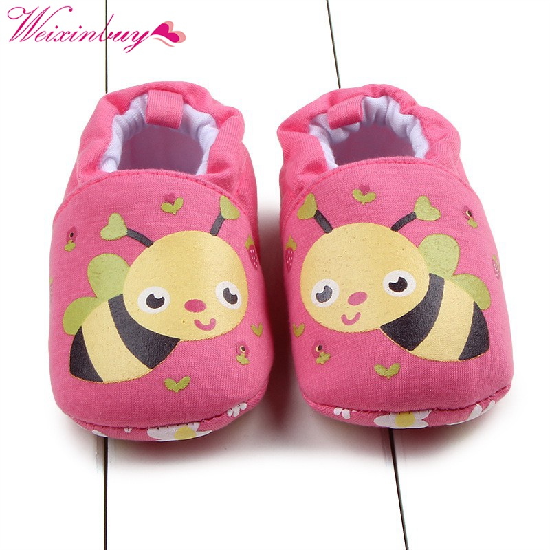 Newborn Baby Flock Warm Shoes Girl Boy Anti-slip Skid-proof Shoes Soft Cotton Toddler Infant First Walkers Kids