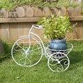Европейский Железный Настенный Цветок креативная гостиная балкон настенная белая велосипедная маленькая корзина почта