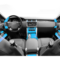 Sticker For Range Rover Sport transparent Promotion TPU Film stickers for range rover Center console Interior Accessories