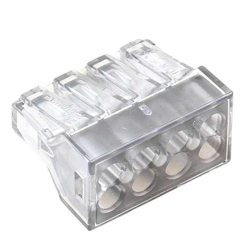 10 Pcs transparent Universal Compact Wire Wiring Connectors 8 Pin Conductor Terminal Block with Lever MKVSE 108 in Connectors from Lights Lighting