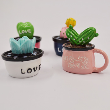 3D Three Dimensional Cute Cactus Beautiful Car Air Freshener Decoration Essential Oil Diffuser  Fruit Natural Fragrance Perfume