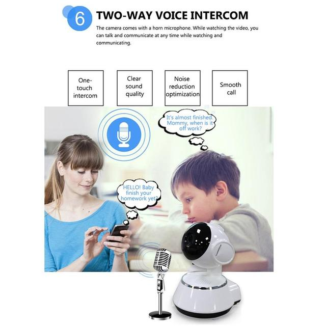 Baby Monitor Portable WiFi IP Camera 720P HD Wireless Smart Baby Camera Audio Video Record Surveillance Home Security Camera 2