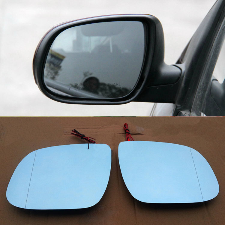Ipoboo 2pcs New Power Heated w/Turn Signal Side View Mirror Blue Glasses For Kia Forte