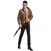 Thick Men Winter parka Leather Jacket Mens Turn-down Collar Motorcycle Coats Warm Faux Leather Jackets