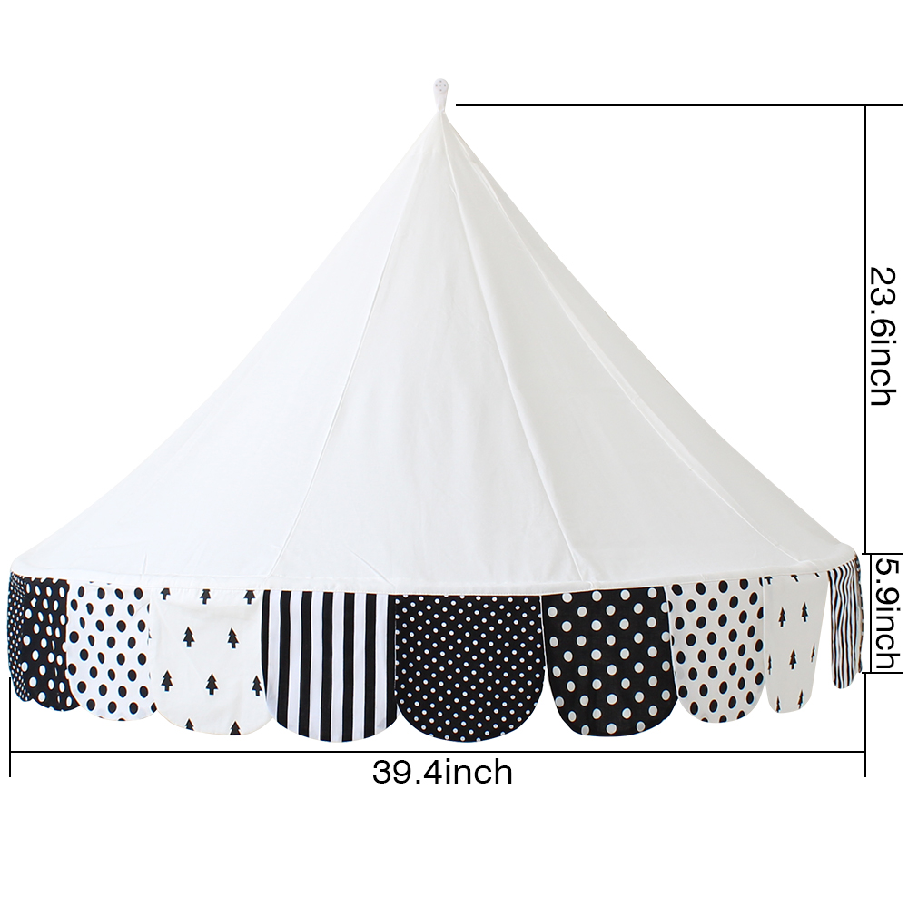 Children Tent Cotton Play Tent For Kids Canopy Bed Curtains For Baby Room Decoration Tipi Props For Photography in Toy Tents from Toys Hobbies