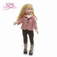 NPK 50cm high quality Stylish fashion model BJD CST dolls with blonde long hair bonecas girls toys gift