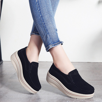 Women Shoes New Woman Casual Heightening Flat Shoes Female High Quality Leather Platform Shoes Ladies Fashion Shoes Women Basket