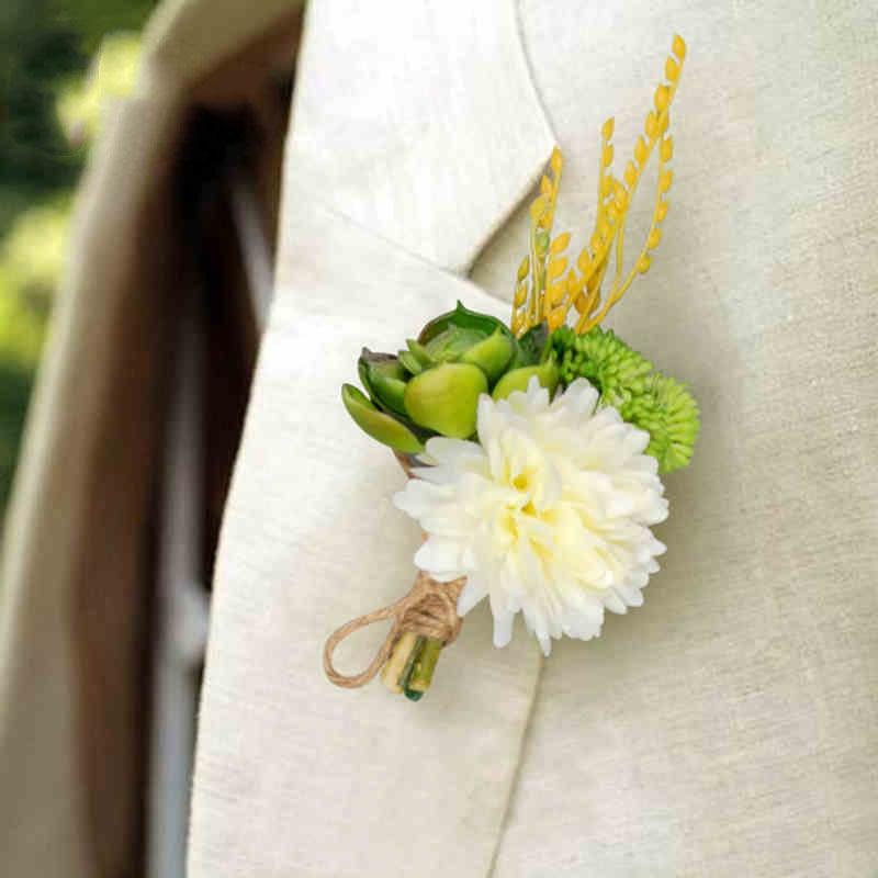 Luxury best man Corsage flower 3 styles Groom groomsman Garden ...