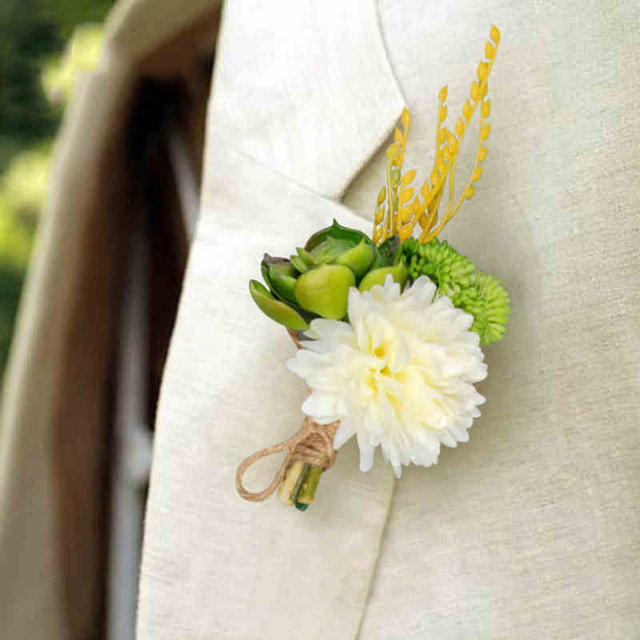 Luxury Best Man Corsage Flower 3 Styles Groom Groomsman Garden Wedding Men Suit Boutonniere Pin