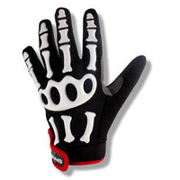 Cool professional skull mountain bike gloves with xxl size unisex