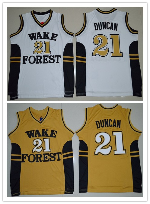 promo code 21ab9 e696c US $23.99 20% OFF Wake Forest Demon Deacons Tim Duncan Basketball Jerseys  Customize any number and name S 6XL-in Basketball Jerseys from Sports & ...