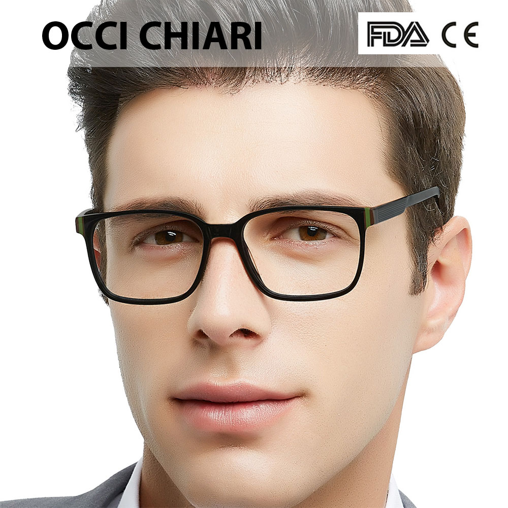 OCCI CHIARI Anti Blue Light Glasses Men Clear Lens Computer Gaming Eyeglasses Goggles Protection Spectacles Optical Frame CESCUT