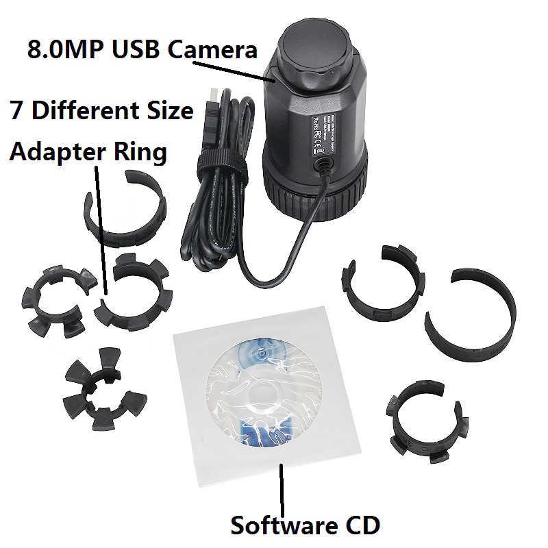 8.0 MP Macchina Fotografica del USB Digital Oculare per Microscopio Telescopio Astronomico Cannocchiale Binocolo Monoculare CMOS