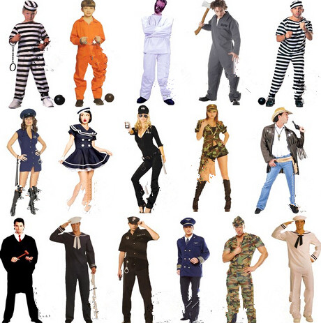 Prisoners costume Police uniforms roleplaying game serving dress Halloween inmates serving dress children Adults Prison Uniform