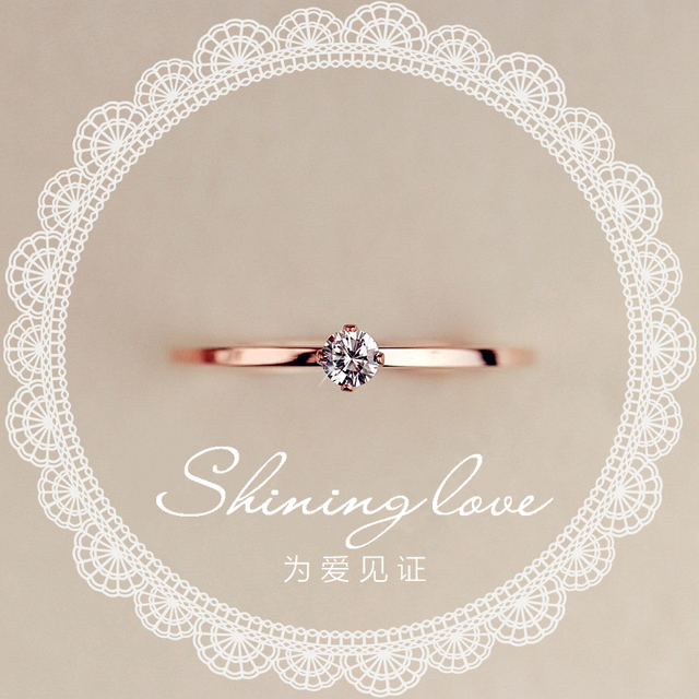 Fine Jewelry Titanuim Steel Rose Gold Color Ring CZ Crystal Ring For Women Couple Finger Rings love Wedding  Size3-9 R101 1