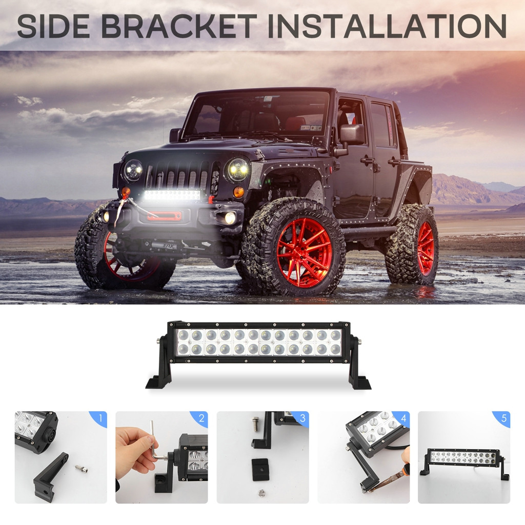 13inch 120W 2525 Dual Row Straight LED Work Light Bar Off Road Driving Truck SUV LED Lamps For Cars Luces Led Para Auto-in Light Bar/Work Light from Automobiles & Motorcycles