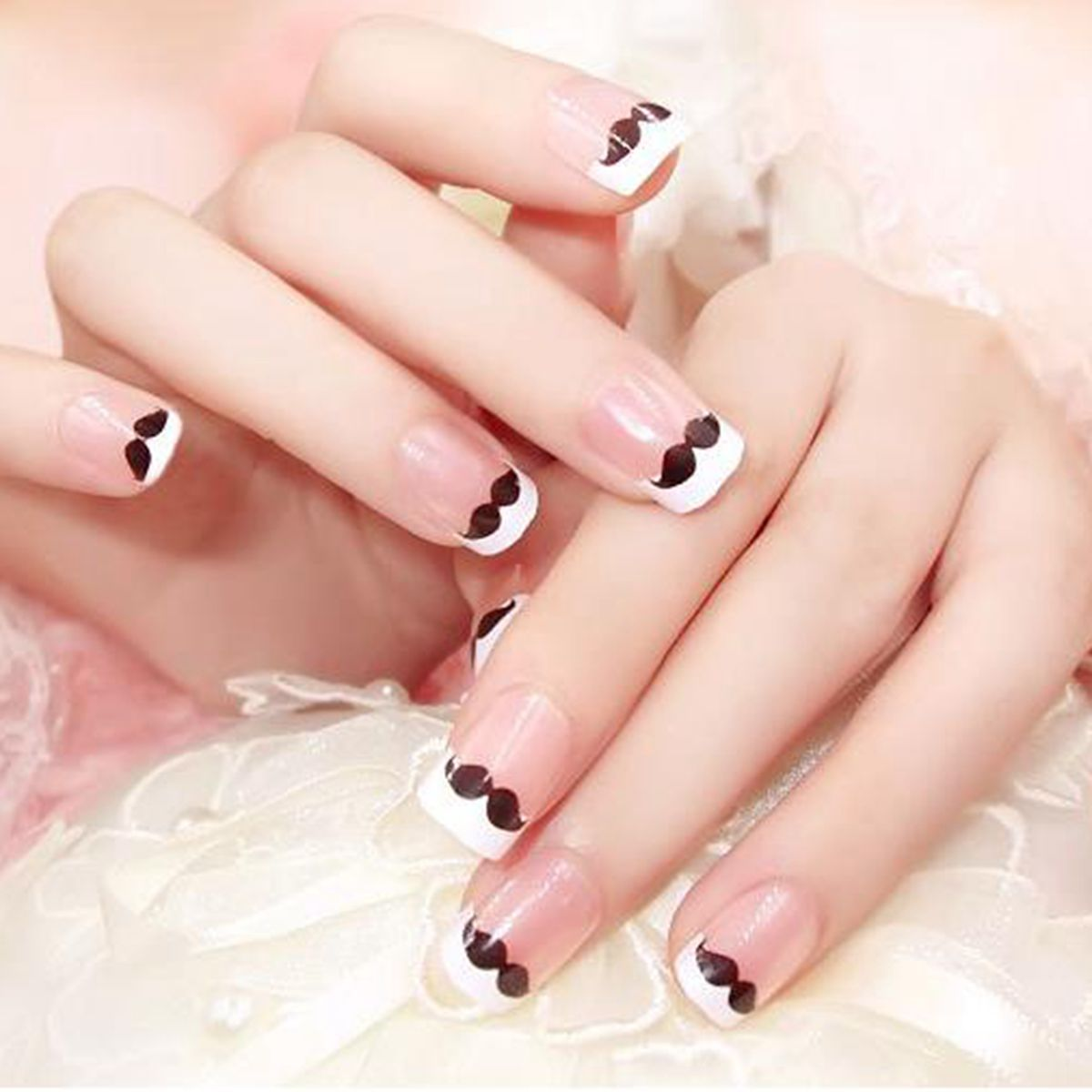 24pcs children clear nail tips