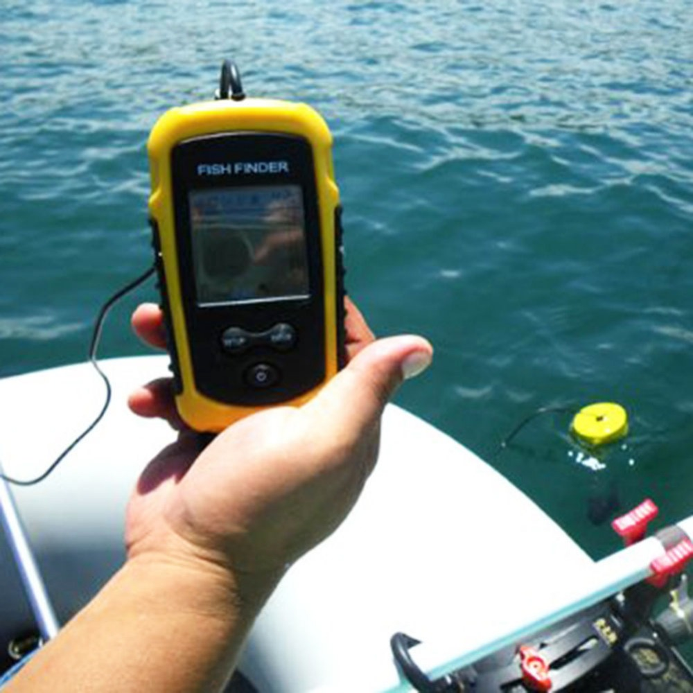aliexpress : buy v blue 100m portable lcd sonar sensor fish, Fish Finder