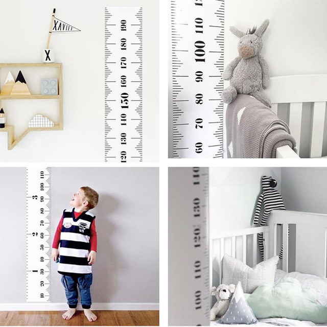 Black And White Scandinavian Children S House Decoration Hanging Paintings Height Foot Wall Photography Stickers