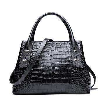 Moxi Luxury Handbags Women Bags Genuine Leather Messenger Bags For Women Shoulder Bag Crocodile Leather Purse Bolsa Feminina