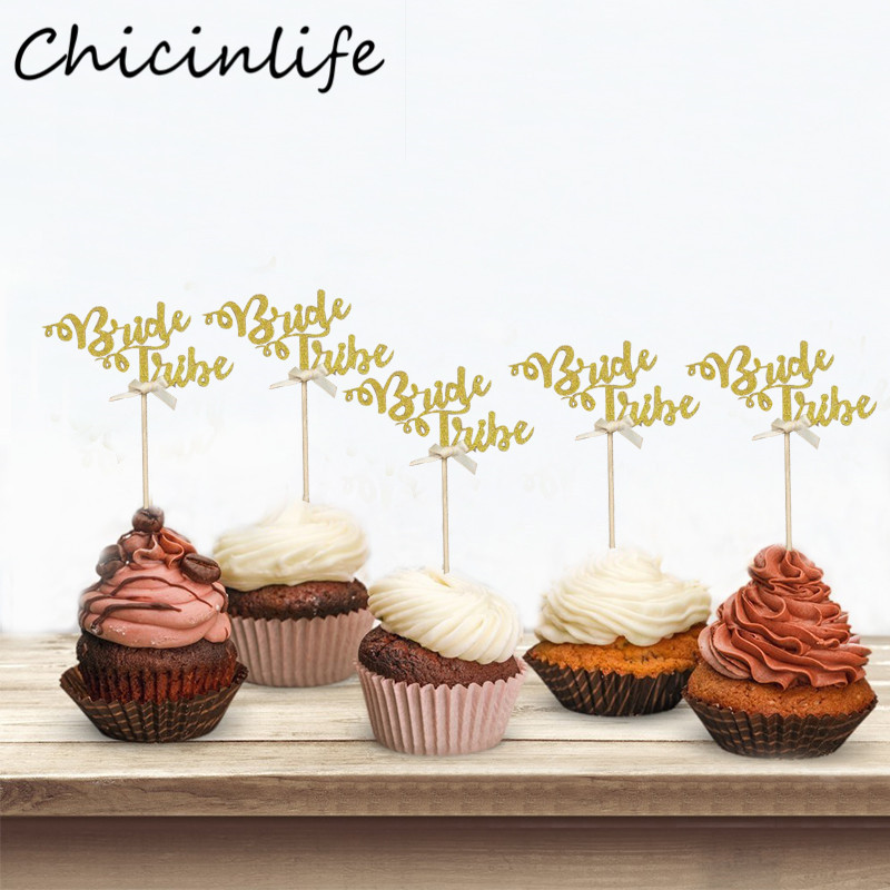 10pcs Cupcake Toppers Glitter Diamond for Cupcake Decor Bridal Shower Decor new