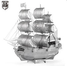 PIECE FUN 3D Laser Cut DIY Assembly Models DIY Black Pearl Pirate Ship Model Jigsaw Adult kids educational toy