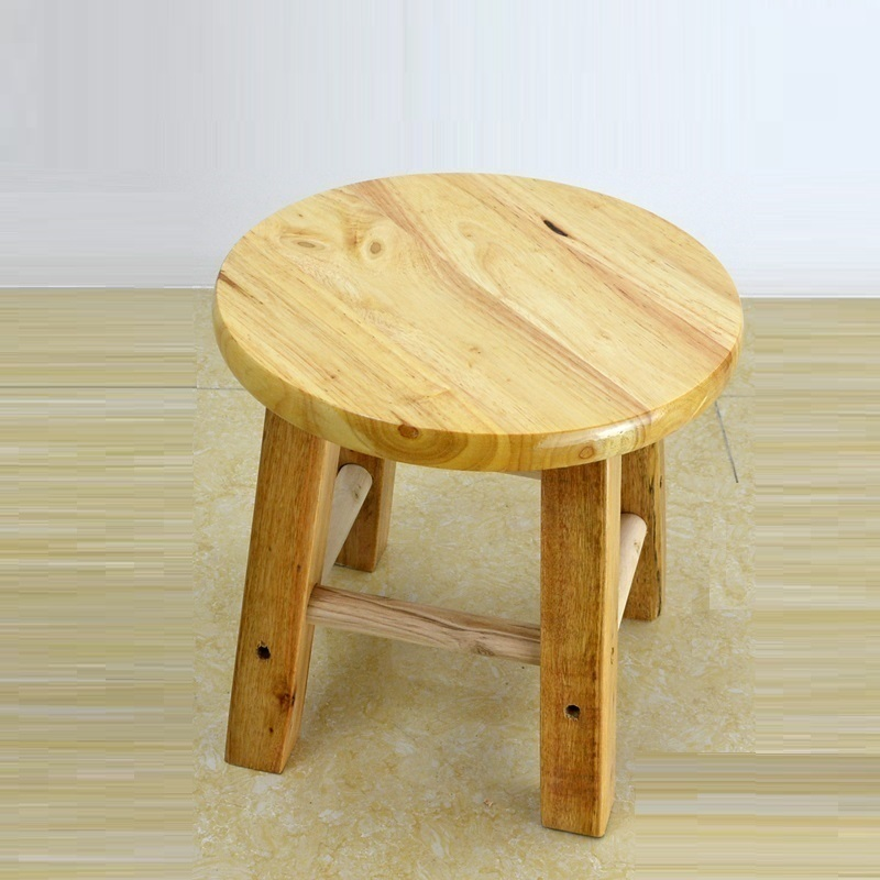 Solid Small Household modern wooden round Shoe bench wood bar chairs stools sillas sedie sgabello barstoel furniture