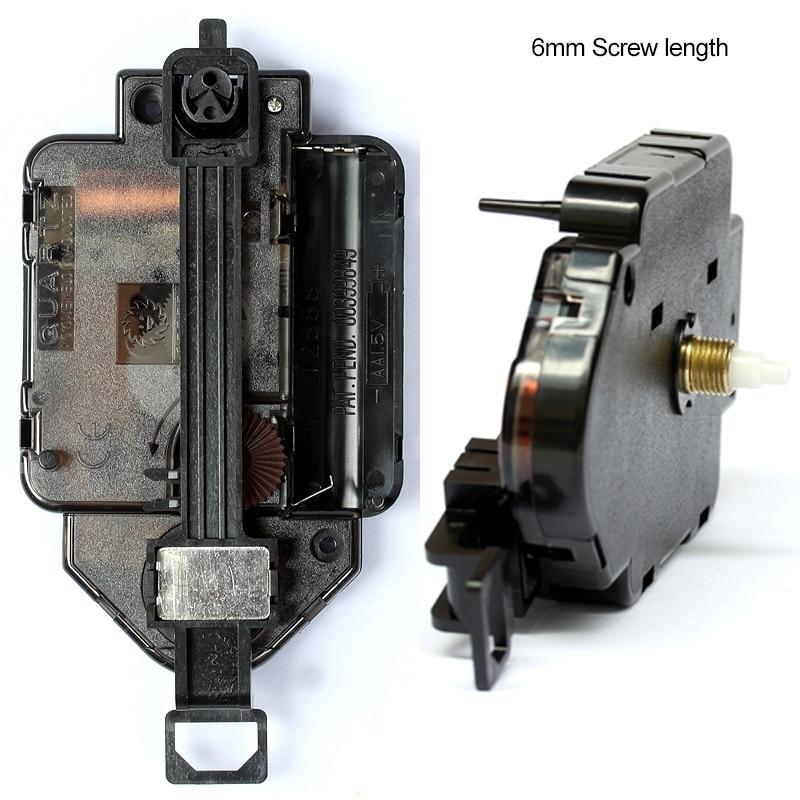 12888 Pendulum type Movement 6mm Screw length Plastic Movement With Hands Step Clock Accessory Quartz DIY Movement Kits