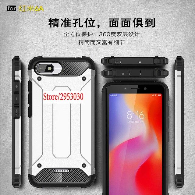 Armor Cover for Xiaomi Redmi 6A A6 PC Silicon Phone Protection Case Capa Coque for Xiao mi Red 6a Redmi6a 6 a M1804C3CT Case