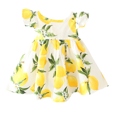 Charming Lemons Patterned Cotton Baby Girl's Dress
