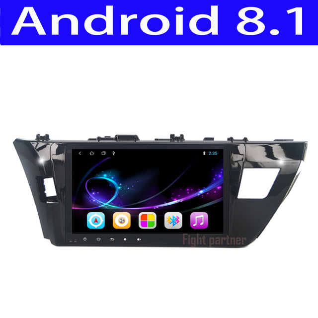 Factory price latest Android 8.1 car dvd player gps navigation for Toyota Corolla Toyota Auris 2014 2015 2016
