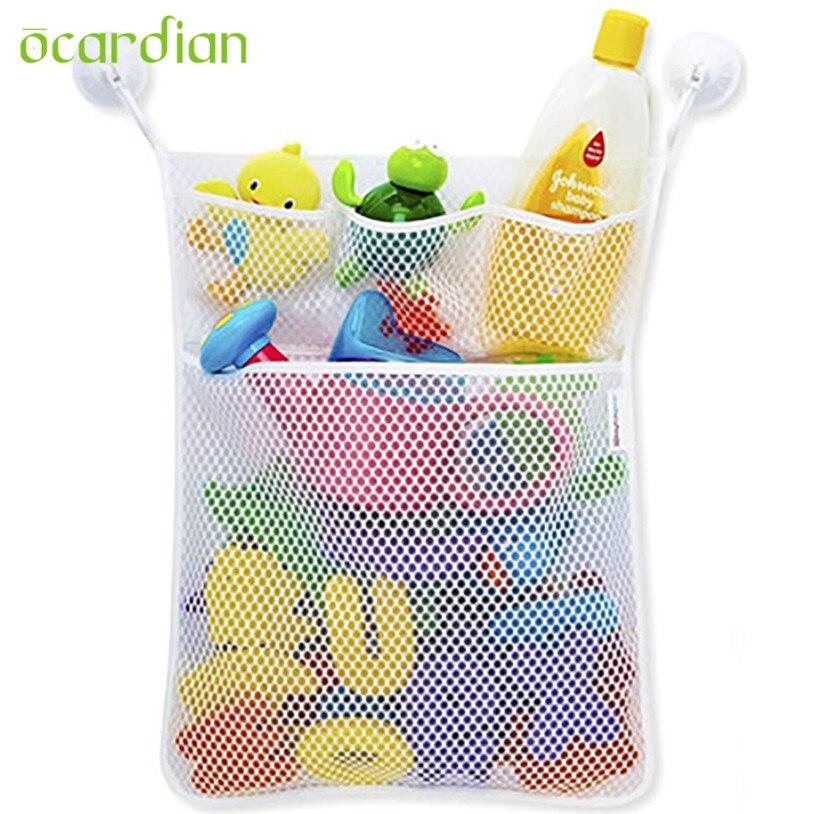 Hanging Organizer Baby Toy Bath Bathtub Doll Mesh Storage Bag u70717