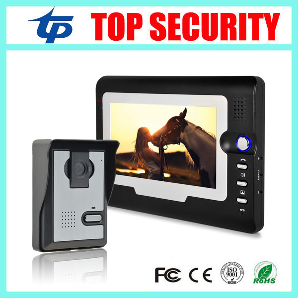 Cheap price good quality 7 inch color screen video door phone door intercom wired door bell access control system for office exported quality screen printing frame 7 5x10 inch 19x25cm wholesale price door to door