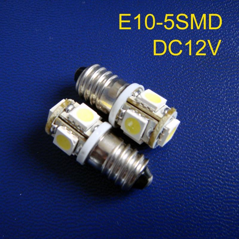 Высокое качество E10 светодиодное освещение, 12 В e10 светодиодная лампа автомобиля, E10 водить автомобиль световой сигнал, индикатор, контрольн...