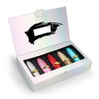 Bullet Lipstick Set Waterproof Non stick Cup Long lasting Colorfast Lipstick Kit Cosmetic