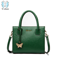 Anna S Bag Split Leather Women Shoulder Bag Top Handle Bags Messenger Bags With Beautiful Butterfly