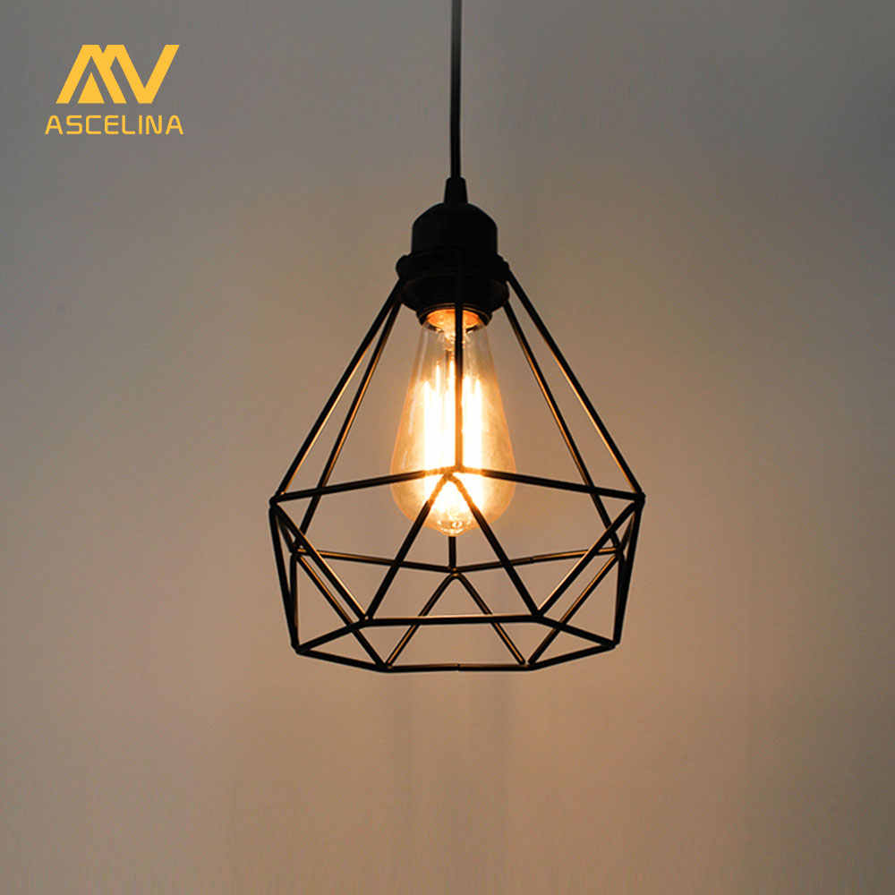 ASCELINA Pendant light Lampshade Loft Nordic Bulb Guard Clamp Antirust Ceiling Lamp shade Restaurant Office Home Decorative