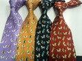 2016 Venda Quente! Gravata De Seda gravata com caixa de presente de Negócios de Qualidade Ocasional boxLuxury H Seda Jacquard Masculino Laço frete grátis