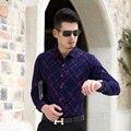 2016 Новые Модели Мужчины Офис Мода Stripes С Длинным Рукавом Рубашки Вскользь Платья