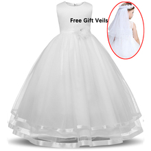 Kids Dresses for Girls Robe Fille Elegant Princess Wedding Dress Baptism Party Birthday Flower Vestido Dama De Honra Infantil цена 2017