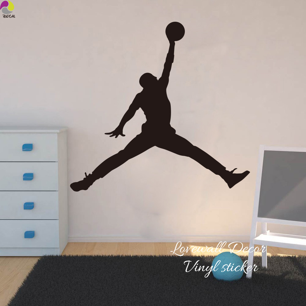 Michael jordan chicago bulls wall sticker living room nba basketball player wall decal bedroom children room