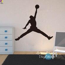 цена на Michael Jordan Chicago Bulls Wall Sticker Living Room NBA Basketball Player Wall Decal BedRoom Children Room Vinyl Home Decor