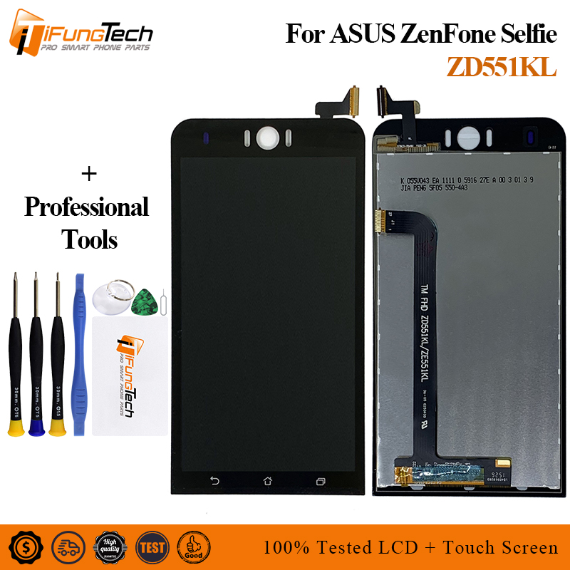 For <font><b>Asus</b></font> <font><b>Zenfone</b></font> <font><b>Selfie</b></font> <font><b>ZD551KL</b></font> Z00UD <font><b>LCD</b></font> Display Panel Touch Screen Digitizer Glass Sensor Assembly With Frame image
