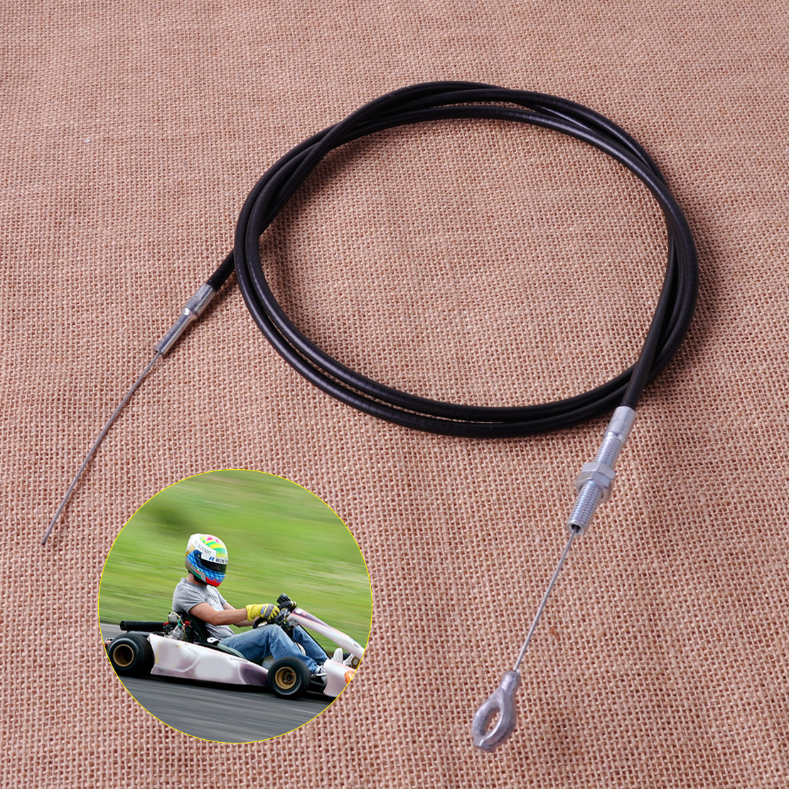 CITALL 71 inch Long Throttle Cable Wire with 63 inch Casing Part Fit for Manco 4xx models go karts 8252-1390