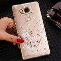 Новый 3D Корона цветок лук bling Кристалла алмаза Сотовый Телефон Shell задняя крышка жесткий футляр Для huawei honor 5X чехол